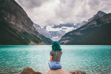 freetoedit girl people lake water