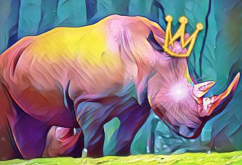 rhinoday freetoedit crown rainbowmagiceffect