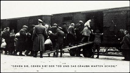 holocaust blackandwhitephotography train crowd
