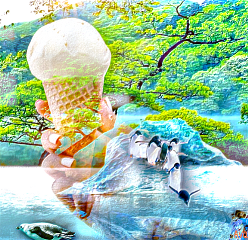 freetoedit dailyremix icecreamconeremix trees water