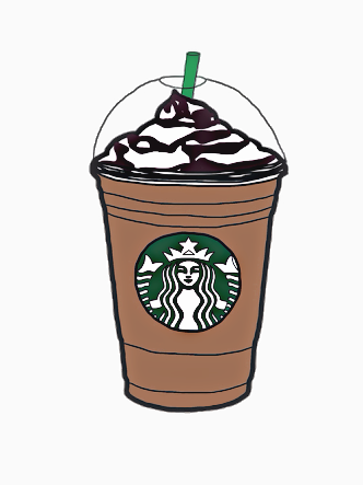Sticker Cute Tumblr Starbucks Coffee Frappuccino Follow