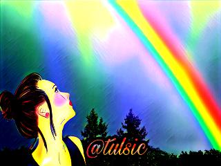 freetoedit tulsic rainbow woman