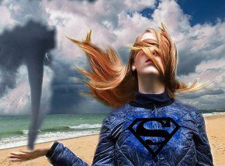 superwoman supergirl superhero twister hurricane