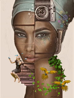 surreal myartwork myedit womanportrait @sona75 freetoedit