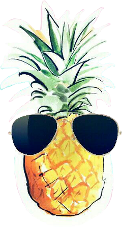 pineapple with sunglasses clipart. pineapple pineapple🍍 swag sunglasses freetoedit with clipart