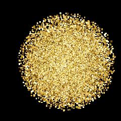 glitter gold circle ftestickers freetoedit