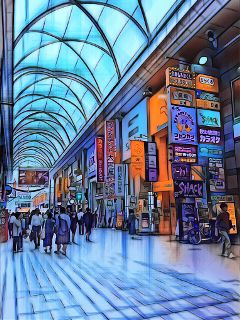 neopopmagiceffect architecture arcade shoppingmall japan freetoedit