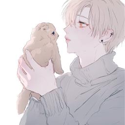 animeboy kawaii aesthetic neko kitten