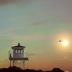 lifesavingstation sunset airplane freetoedit myoriginalphoto