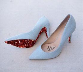 freetoedit shoes heels glitter blue
