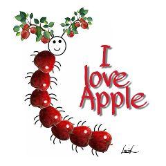 isafantasticworld apples caterpillar autumn fruits freetoedit