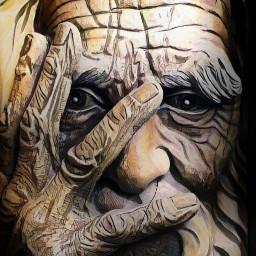 freetoedit wood carving oldman age