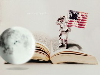 astronaut manonthemoon moon usaflag universe