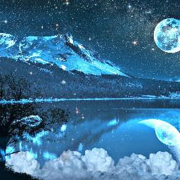 freetoedit blendedimages cool mountain stars