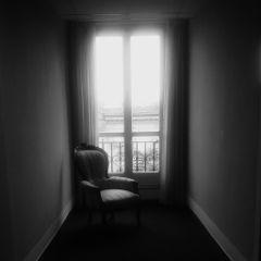 chair night hotel silence