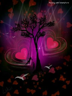 drawing love colorfulbackground