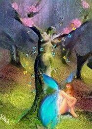 fairy bloom motherearth tree magic freetoedit