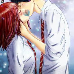 freetoedit anime aoharuride heart kiss