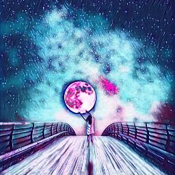 freetoedit galaxymagiceffect moon cute