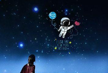 astronaut girl stars upinthesky myedit freetoedit