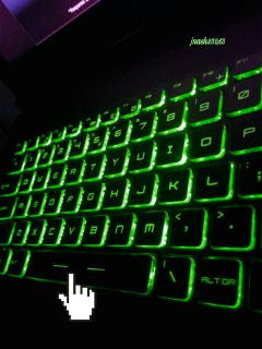 freetoedit dailysticker keyboard laptop green