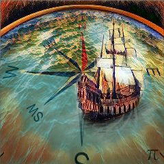 freetoedit compass ocean ship direction