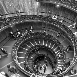 stairs spiral blackandwhite black
