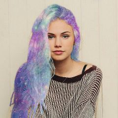 freetoedit galaxyhair beauty girl trending