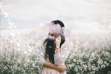 clouds cloud woman girl flowers freetoedit