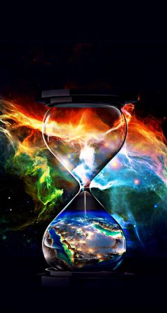 time hourglass thinking colorful beautiful