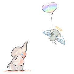 freetoedit elephant babyloss angel heaven