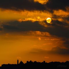 bergamo italy myphoto skyline sunset