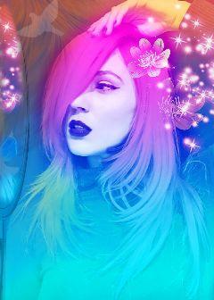freetoedit colorgradient sparkle sticker pinktones