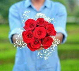 flowers gift man
