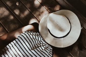 tbt straw hat stripes sun freetoedit