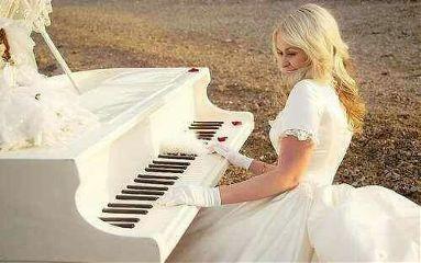 girl dress piano white fantastic