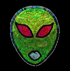 alien ufo green freetoedit