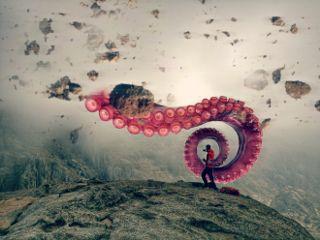 fogremix octopus rocks fog dangerous freetoedit