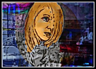 freetoedit woman portrait cute colorful