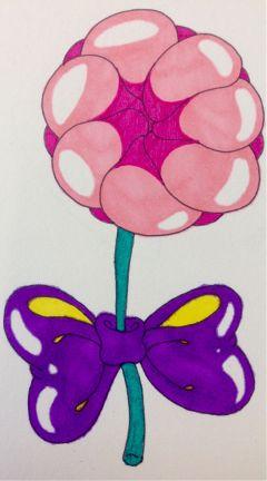inflatable shiny rosebud purplebow pinkrose