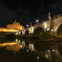 bridge nightphotography reflection
