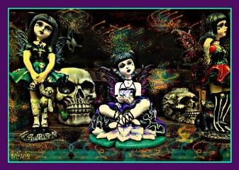 photography ornaments fairies skulls old_photo
