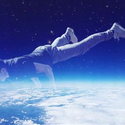 freetoedit surreal yoga space earth