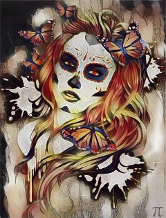 "freetoedit ""sugar sugarskull dayofthedead woman skull freetoedit"