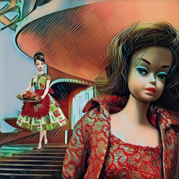 barbiedolls midlifecrisis satire badlandsmagiceffect freetoedit