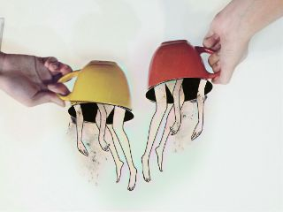 dailyremix hands coffeemugs upsidedown illusion freetoedit