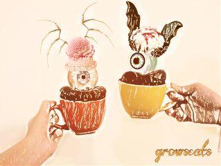 mugcakesremix freetoedit cake icecream eyeball