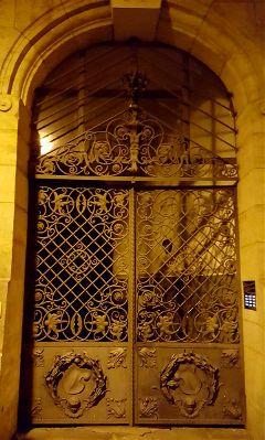 door gate grid iron ornaments