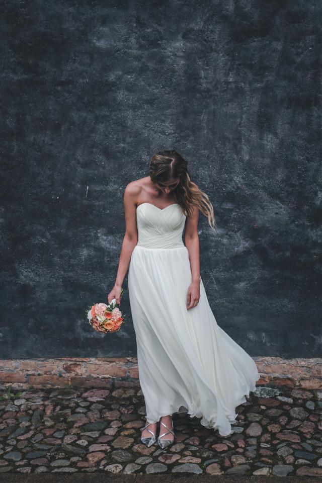 Add emotion! Unsplash (Public Domain) #FreeToEdit #girl #people #young #white #flowers #minimal #wedding
