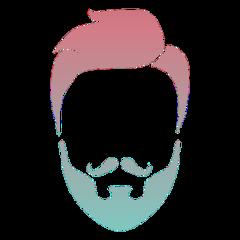 ftebeards beards facialhair colorful freetoedit